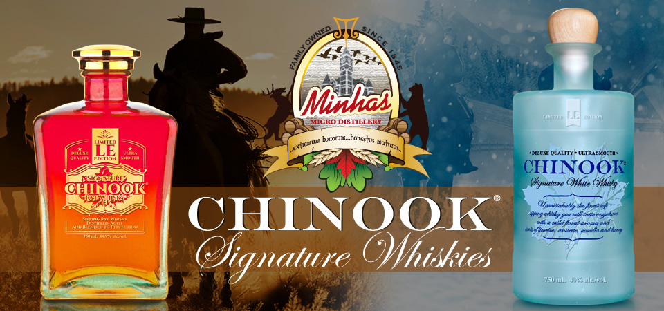 Chinook Rye Whisky and White Whisky