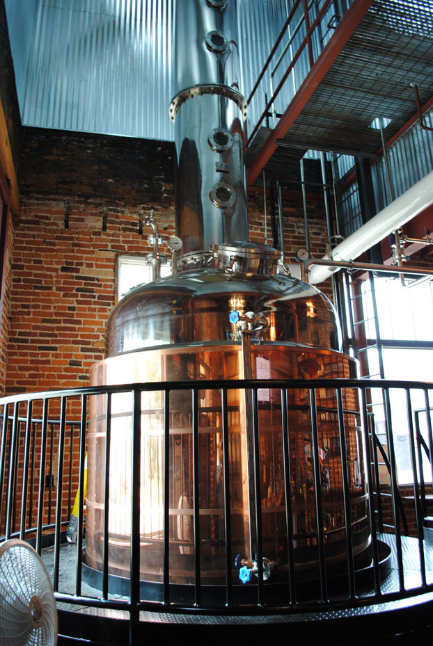 Minhas Distillery Tours - The Godstilla still at Wisconsin